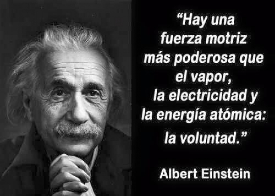 Voluntad - Albert Einstein